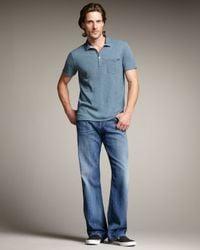 7 For All Mankind | Blue Straight Leg Jeans for Men | Lyst