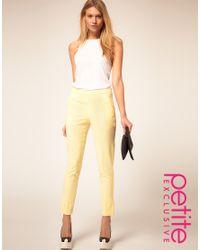 IRO - Yellow Asos Petite Exclusive Slim Fit Trousers - Lyst