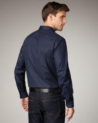 Elie Tahari - Blue Julian Scroll-print Woven Shirt for Men - Lyst