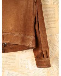 Free People - Brown Vintage Roughout Suede Jacket - Lyst