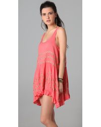 Free People - Pink Trapeze Slip Dress - Lyst