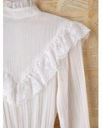 Free People | White Vintage Gauze Lace Dress | Lyst