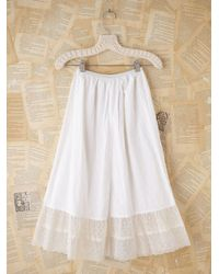 Free People - Vintage White Cotton Slip with Sheer Hem - Lyst