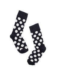 Happy Socks - Black Big Dot Socks - Lyst