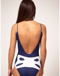 House of Holland | Blue Polyamide and Elastane Swimsuit | Lyst