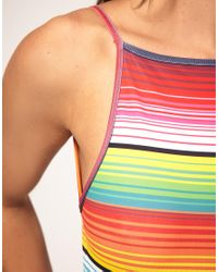 House of Holland | Multicolor Swim Suit With Rainbow Print | Lyst