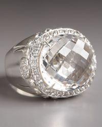 John Hardy Metallic White Topaz & Sterling Silver Dome Ring