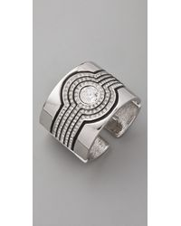 Kenneth Jay Lane | Metallic Deco Cuff | Lyst