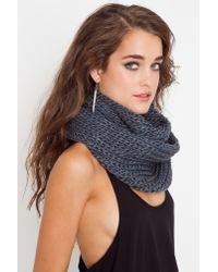 Nasty Gal   Gray Infinity Knit Scarf - Slate   Lyst