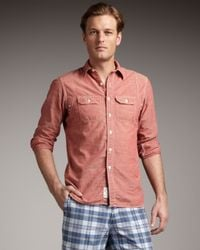 Polo Ralph Lauren | Chambray Shirt, Red for Men | Lyst
