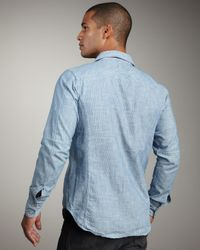 Rag & Bone - Blue Trail Shirt for Men - Lyst