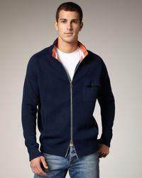 Robert Graham | Blue Skeeter Zip Sweater, Navy for Men | Lyst