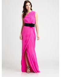 Robert Rodriguez | Pink Silk Gown  | Lyst