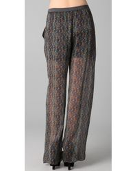 Theyskens' Theory - Multicolor Poug Icket Small Pants - Lyst