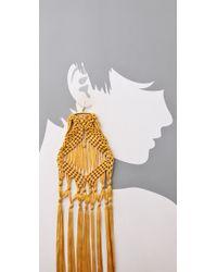 Tribune Standard   Metallic Macrame Earrings   Lyst