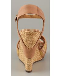 Twelfth Street Cynthia Vincent Natural Naomi Wedge with Crossfront Detail