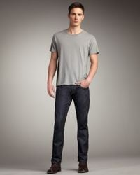 Wrangler | Eddy Tapered Dark Blue Jeans for Men | Lyst
