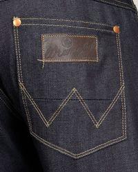 Wrangler - Eddy Tapered Dark Blue Jeans for Men - Lyst