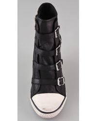 Ash | Black Thelma Wedge Sneakers | Lyst