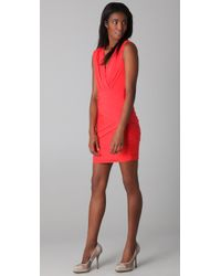 BCBGMAXAZRIA - Red Lou V Neck Cocktail Dress - Lyst