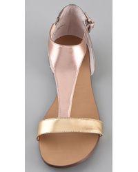 Boutique 9 Sandals Piraya Color Block Metallic