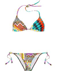 Etro | Purple Printed Triangle Bikini | Lyst