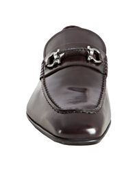 Ferragamo | Brown Hickory Leather Cantino Double Gancio Loafers for Men | Lyst