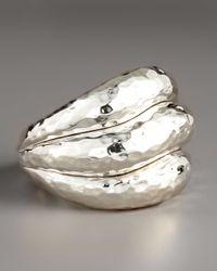 Ippolita | Metallic Sterling Silver Wave Ring | Lyst