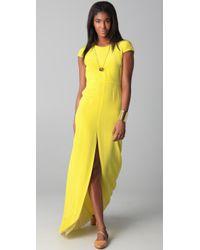 Jenni Kayne | Cap Sleeve Yellow Gown | Lyst