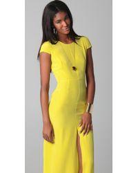 Jenni Kayne Cap Sleeve Yellow Gown
