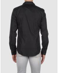 John Richmond - Black Long Sleeve Shirt for Men - Lyst