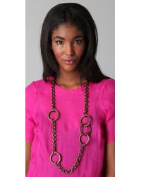 Kelly Wearstler | Metallic Asymmetrical Chain Necklace | Lyst