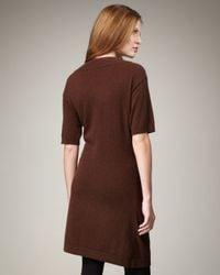 Neiman Marcus - Brown Cashmere Dress - Lyst