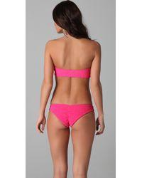 Tori Praver Swimwear | Pink Lily Bandeau Bikini Top | Lyst