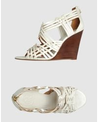 Tory Burch | White Wedges | Lyst