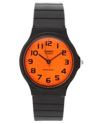G-Shock - Orange Dial Black Strap Watch - Lyst