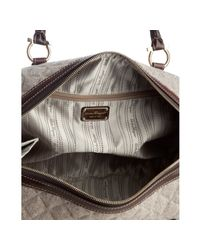Ferragamo - Gray Quilted Wool Freja Satchel - Lyst