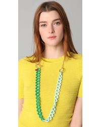 M Missoni Green Link Necklace