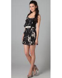 Parker - Black Two Ruffle Dress - Lyst