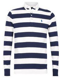 Polo Ralph Lauren - Blue Navy and White Stripe Jersey Shirt for Men - Lyst