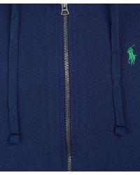 Polo Ralph Lauren - Blue Navy Zip Front Hoodie for Men - Lyst