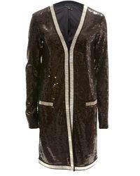 Rachel Zoe | Black Linda Long Sequin Jacket | Lyst