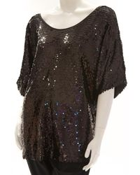 Rachel Zoe - Brown Minelli Sequin Top - Lyst