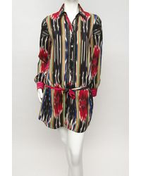 Thakoon - Multicolor Ikat Embroidered Shirt Dress - Lyst