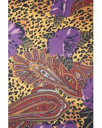 TOPSHOP | Purple Leopard Floral Bomber | Lyst