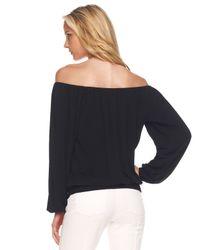 Michael Kors   Black Off-the-shoulder Jersey Top   Lyst
