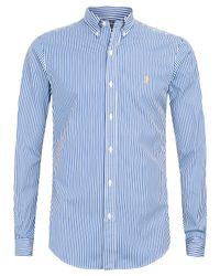 Polo Ralph Lauren - Blue Navy Pinstripe Slim Fit Shirt for Men - Lyst