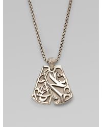 Stephen Webster - Metallic Double Dog Tag Sterling Silver Necklace for Men - Lyst