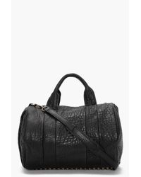Alexander Wang | Black Rocco Mini Duffle Leather Bag | Lyst