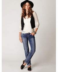 Free People | Blue Far From Any Road Cropped Jean | Lyst
